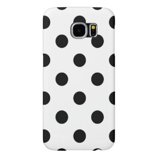 Black and White Polka Dot Pattern Samsung Galaxy S6 Cases