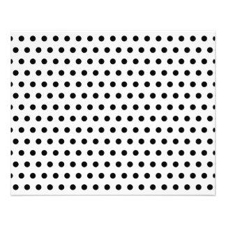 Black and White Polka Dot Pattern. Spotty. 11.5 Cm X 14 Cm Flyer