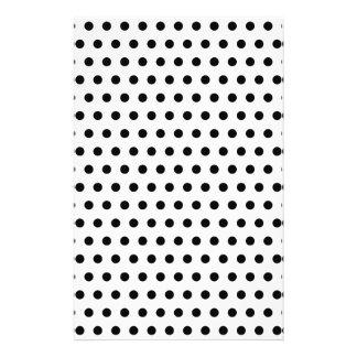 Black and White Polka Dot Pattern. Spotty. 14 Cm X 21.5 Cm Flyer