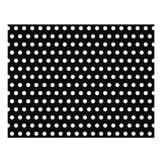 Black and White Polka Dot Pattern. Spotty. 21.5 Cm X 28 Cm Flyer