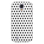 Black and White Polka Dot Pattern. Spotty. Samsung Galaxy S4 Covers