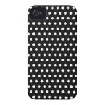 Black and White Polka Dot Pattern. Spotty. Case-Mate iPhone 4 Cases
