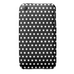 Black and White Polka Dot Pattern. Spotty. iPhone 3 Case-Mate Case