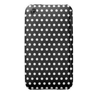 Black and White Polka Dot Pattern. Spotty. Case-Mate iPhone 3 Case