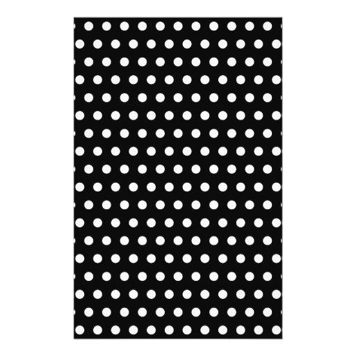 Black and White Polka Dot Pattern. Spotty. Custom Flyer