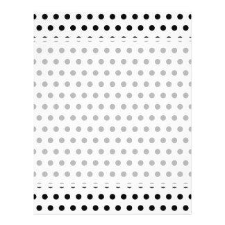 Black and White Polka Dot Pattern. Spotty. 21.5 Cm X 28 Cm Flyer