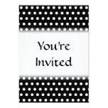 Black and White Polka Dot Pattern. Spotty. Invitation