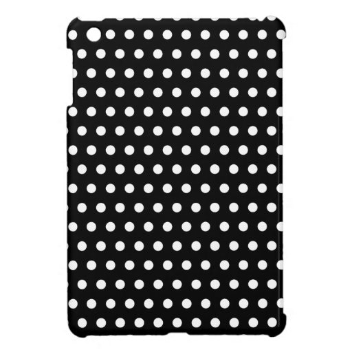 Black and White Polka Dot Pattern. Spotty. Cover For The iPad Mini
