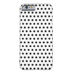 Black and White Polka Dot Pattern. Spotty. iPhone 6 Case