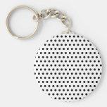 Black and White Polka Dot Pattern. Spotty. Keychains