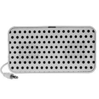 Black and White Polka Dot Pattern. Spotty. Mp3 Speaker