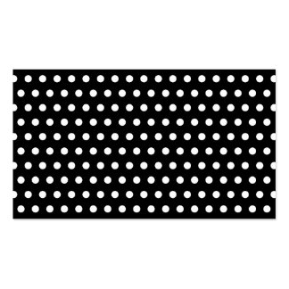 Black and White Polka Dot Pattern. Spotty. Pack Of Standard Business Cards