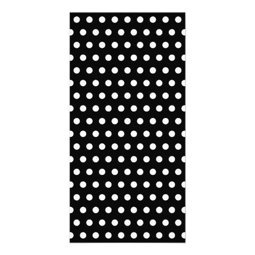 Black and White Polka Dot Pattern. Spotty. Photo Cards