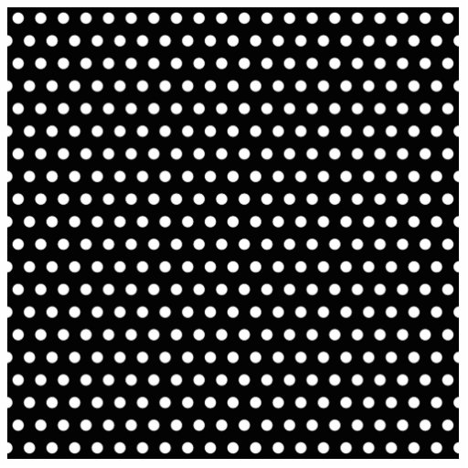 Black and White Polka Dot Pattern. Spotty. Photo Sculpture Decoration