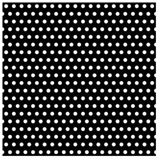 Black and White Polka Dot Pattern. Spotty. Photo Sculpture Decoration