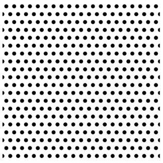 Black and White Polka Dot Pattern. Spotty. Photo Sculpture Magnet
