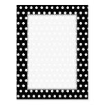 Black and White Polka Dot Pattern. Spotty. Postcard
