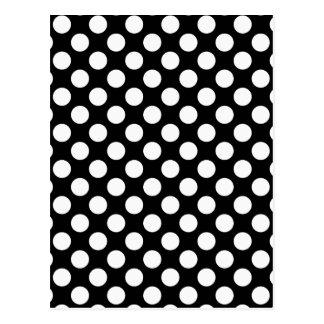 Black and White Polka Dot Pattern, Spotty Postcard
