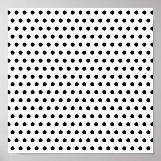 Black and White Polka Dot Pattern. Spotty. Poster