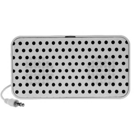 Black and White Polka Dot Pattern. Spotty. Travelling Speaker