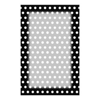 Black and White Polka Dot Pattern. Spotty. Personalized Stationery