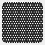 Black and White Polka Dot Pattern. Spotty. Stickers
