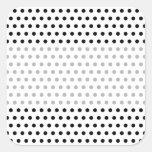 Black and White Polka Dot Pattern. Spotty. Sticker