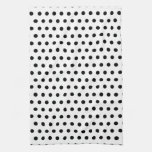 Black and White Polka Dot Pattern. Spotty. Hand Towels