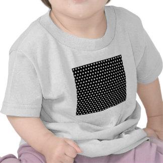 Black and White Polka Dot Pattern Spotty T Shirts