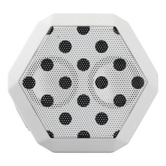 Black and White Polka Dot Pattern White Bluetooth Speaker