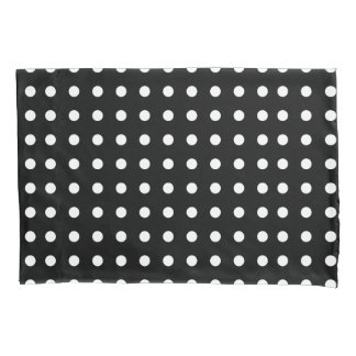 Black and White Polka Dot Pillowcase