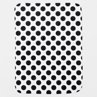 Black and White Polka Dot Pram blanket