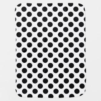 Black and White Polka Dot Pramblanket