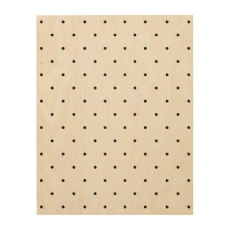 Black And White Polka Dot Spots Wood Canvas