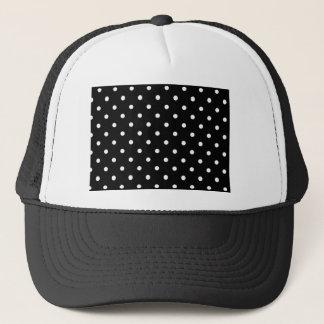 Black And White Polka Dot Trucker Hat