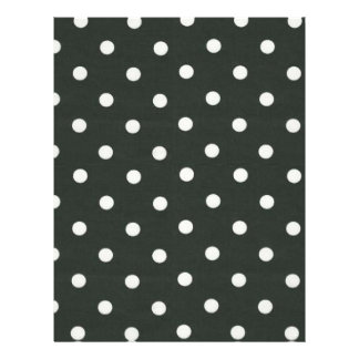 Black and White Polka Dots 21.5 Cm X 28 Cm Flyer