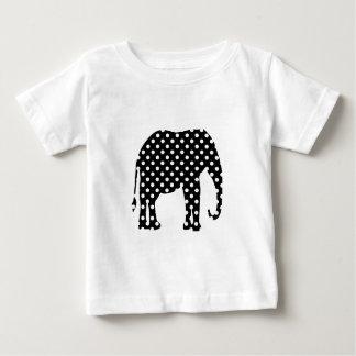 Black and White Polka Dots Baby T-Shirt