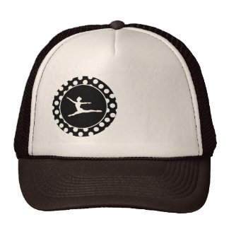 Black and White Polka Dots; Ballet Trucker Hat