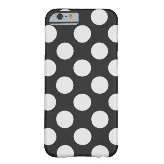 Black and White Polka Dots Barely There iPhone 6 Case