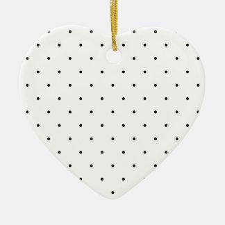 Black And White Polka Dots Ceramic Heart Decoration