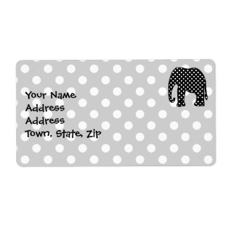 Black and White Polka Dots Elephant