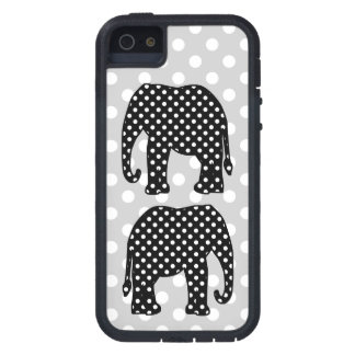 Black and White Polka Dots Elephant iPhone 5 Covers