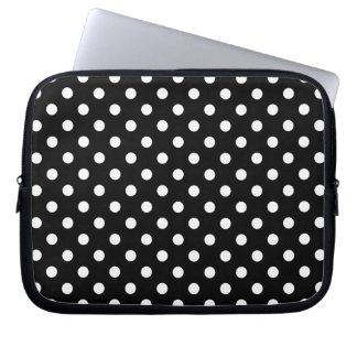 Black and White Polka Dots Laptop Sleeve