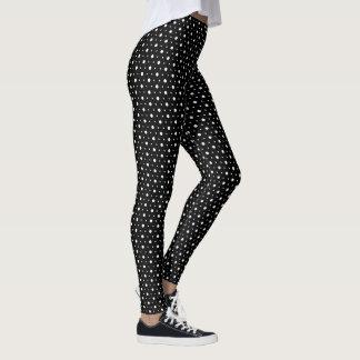 Black and White Polka Dots Leggings