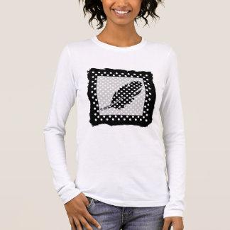 Black and White Polka Dots Long Sleeve T-Shirt