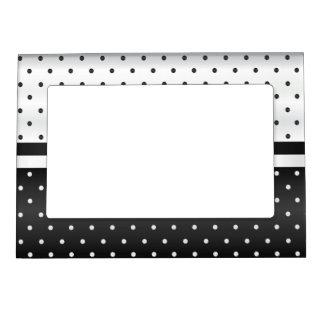 Black and White Polka Dots Magnetic Frame