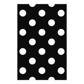 Black and White Polka Dots Pattern 14 Cm X 21.5 Cm Flyer