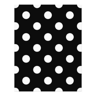 Black and White Polka Dots Pattern 21.5 Cm X 28 Cm Flyer