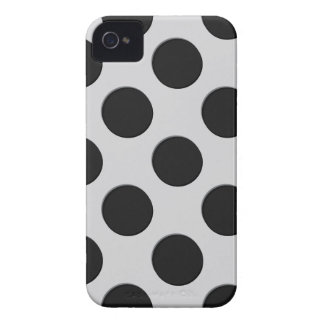 Black And White Polka  Dots Pattern Blackberry iPhone 4 Covers