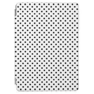 Black and White Polka Dots Pattern iPad Air Cover